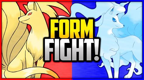 ninetales kanto  alola pokemon form fight youtube