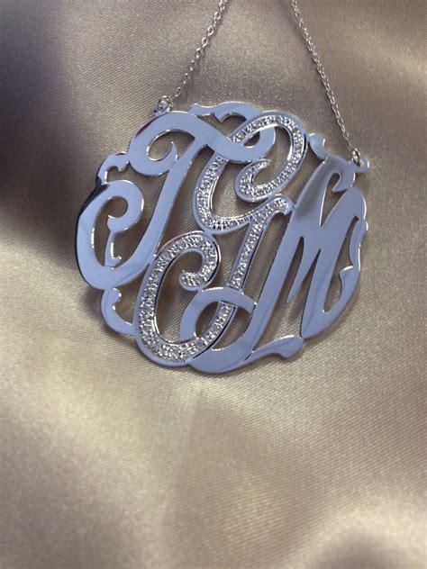 gold  silver monogram  czs set  center letter