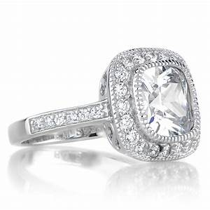 vintage style engagement rings pictures to pin on With wedding rings halo style