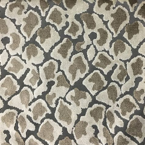 leopard print upholstery fabric leopard pattern cut velvet upholstery fabric by