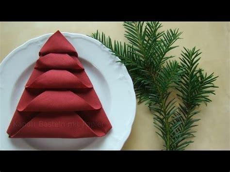 servietten falten zu weihnachten servietten falten tischdeko f 252 r weihnachten