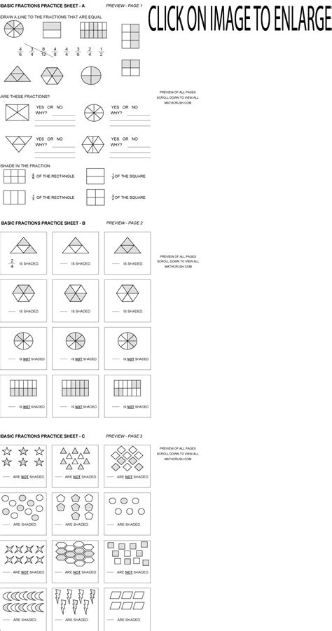 Fractions For Beginners Worksheets  Math Worksheets On Graph Paper Free Printable Dynamically