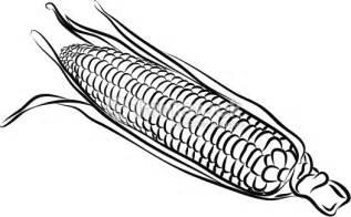 Similiar Black And White Cartoon Corn On The Cob Keywords