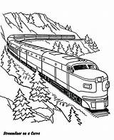 Coloring Pages Railroad Train Freight Printable Getcolorings sketch template