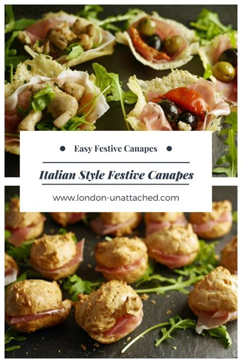 canapes italien canape recipes for easy festive