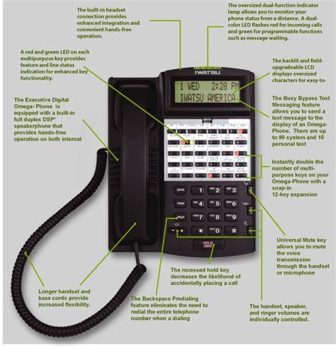 Comdial Impact Phone Template by Iwatsu Omega Ix 12ktd 3 Telephone Black Phone