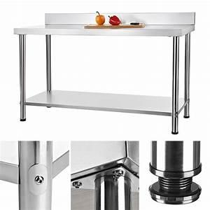 Tisch Eindecken Gastronomie : edelstahltisch aufkantung gastro tisch k chentisch edelstahltisch gastronomie ebay ~ Heinz-duthel.com Haus und Dekorationen