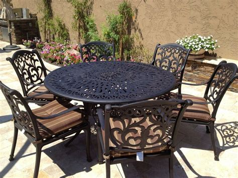 Restaurant Patio Furniture by Cast Aluminum Outdoor Patio Furniture Flamingo 7pc Dining