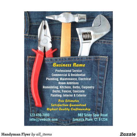 handyman flyer zazzleca residential plumbing