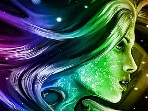 Rainbow, Girl, 3d, Fantasy, Abstract, Art, Digital, Hd, Wallpapers, For, Mobile, Phones, And, Laptops