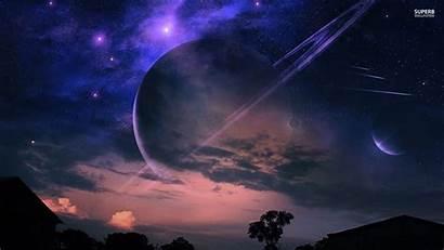 Sky Night Fantasy Wallpapers Planets Desert Desktop