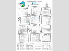 Kalender 2019 School vakanties en feestdagen inc de