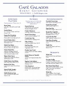 catering menu templates and designs musthavemenus With catering menus templates