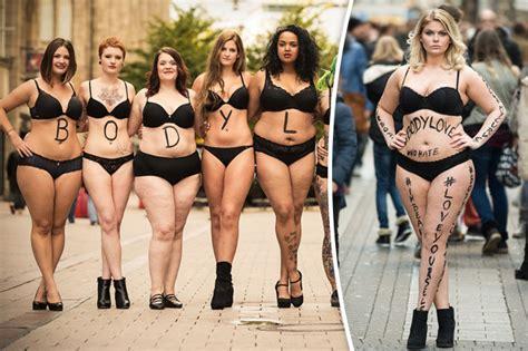 Women Strip To Their Underwear To Promote Body Love