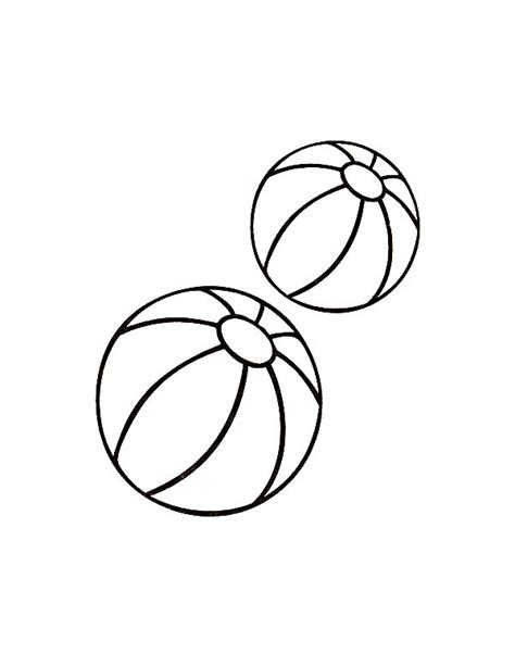 Coloring Balls by Two Balls Toys Coloring Pages Two Balls Toys Coloring