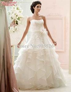 Ball gown wedding dresses lace flower sweetheart ruffles for Ruffle wedding dress