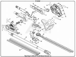 Homelite Ry40060 Hedge Trimmer Parts Diagram For General
