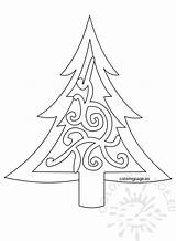Tree Template Printable Xmas Christmas Clip Drawing Coloring Holiday Outline Pattern Coloringpage Eu sketch template