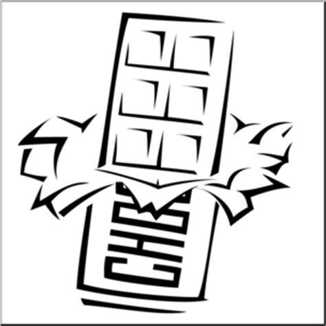 clip art chocolate bar coloring page  abcteachcom