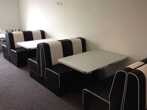 retro style banquette seating