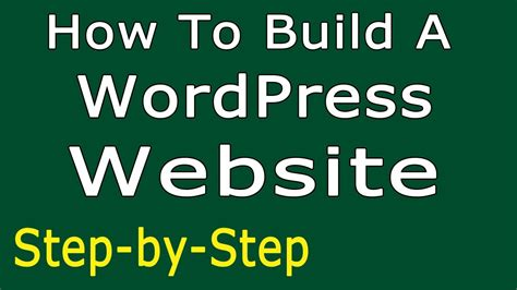 How To Build A Wordpress Website  Simple Stepbystep