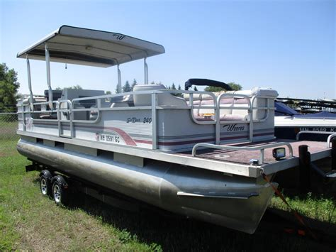 deck pontoon boat craigslist weeres new and used boats for sale