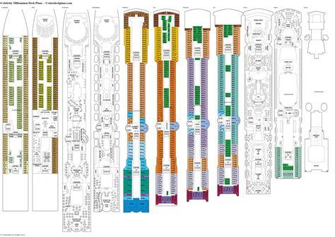 Millennium Deck Plan by Millennium Vista Deck Plan Tour