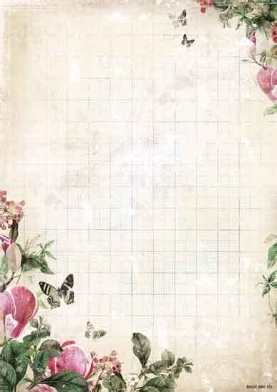 My Botanic Garden Background Paper Double Face A4