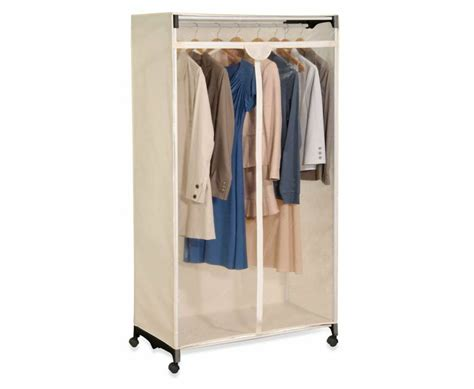 Wardrobe For Hanging Clothes by Portable Rolling Wardrobe Garment Clothes Closet Organizer