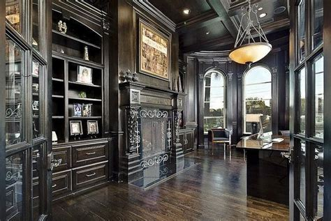 gorgeous gothic home office  library decor ideas