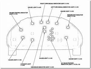 The Instrument Panel Lighting For My 2002 Honda Civic Lx