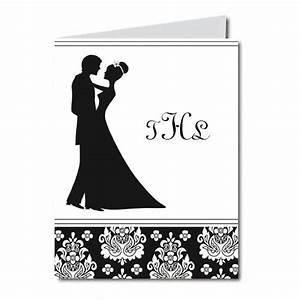 Bride and Groom Dancing Silhouette Folded Notes | PaperStyle