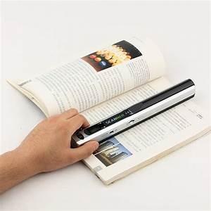 portable handy scanner photo document scanner silver color With portable document and photo scanner