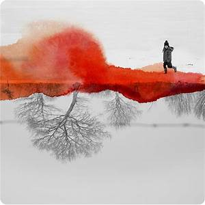 Mirrored photographs combined with watercolor by fabienne for Mirrored photographs combined with watercolor by fabienne rivory