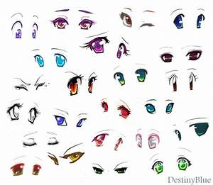 Anime eyes by DestinyBlue on DeviantArt