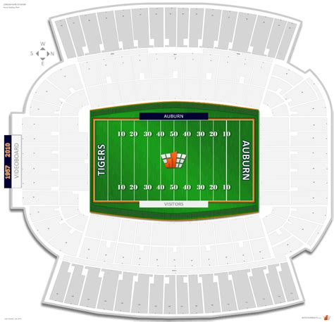jordan hare stadium auburn seating guide rateyourseatscom