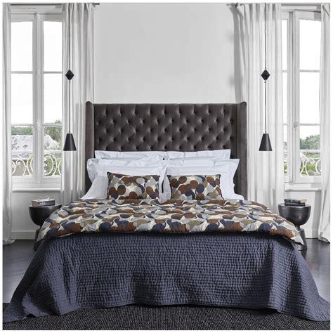 Tendance bohème cette tête de lit de largeur 170cm ira parfaitement à un lit 2 places de 160cm de largeur, pour décorer votre chambre dans un esprit ethnique bohème. Tête de lit COLBY gris foncé - 160 cm