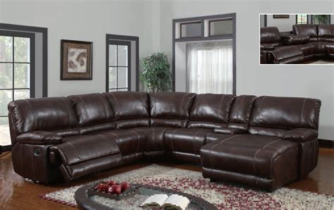 leather reclining sectional with chaise leather recliner sectional sofa leather reclining
