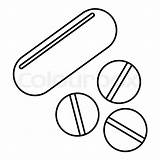 Outline Pills Icon Vitamins Clipart Delle Icona Vitamine Illustrazione Oeversiktsstil Round Icons Sottile Linea Colourbox Blister Eps Sangue Donazione Elemento sketch template