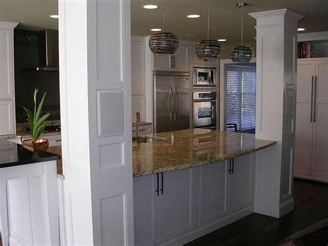 kitchen island with columns