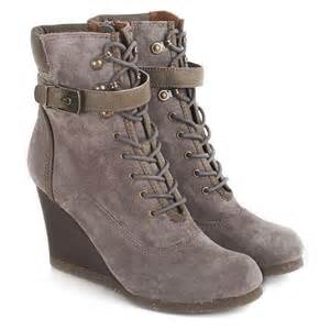 womens boots grey scholl grey lidean s wedge ankle boot