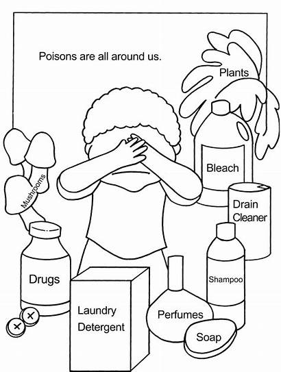 Poison Coloring Pages Sign Children Sheets Teaching