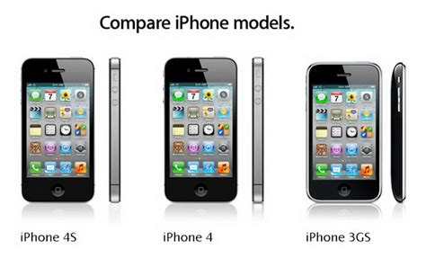 compare iphone models comparison chart iphone 4s vs iphone 4 vs iphone 3gs