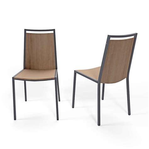 chaises bistro chaise de cuisine en métal et bois concept 4 pieds