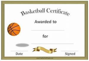 7 best images of free printable basketball certificates free basketball award certificate for Free basketball certificates
