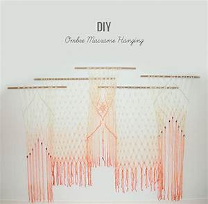 DIY: Ombre Macrame Hanging Green Wedding Shoes