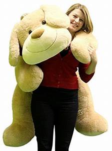 Giant Stuffed Puppy Dog 5 Feet Long Squishy Soft Extremely ...