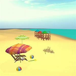 Complete Cartoon Beach Scene 3D Model MAX OBJ FBX MTL ...
