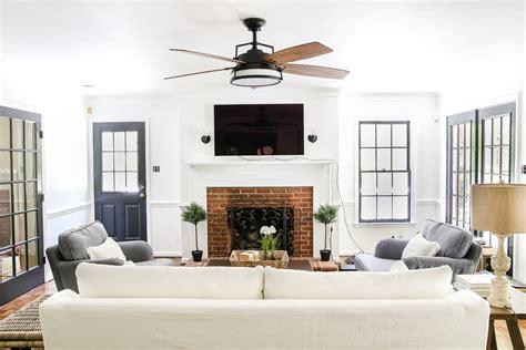 fan for room living room update ceiling fan swap bless 39 er house