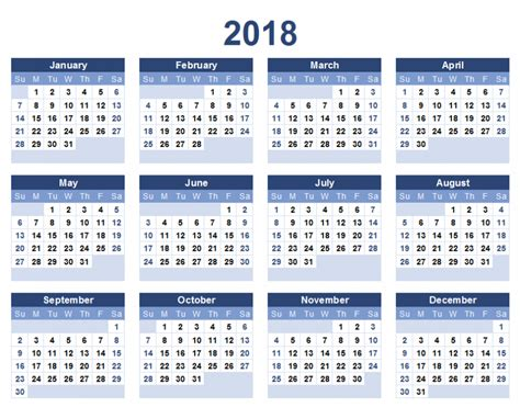 Word Calendar Template Free Printable 2018 Calendar Template Word Excel